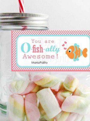 O-Fish-ally Awesome Printable Thank You Bag Topper E147
