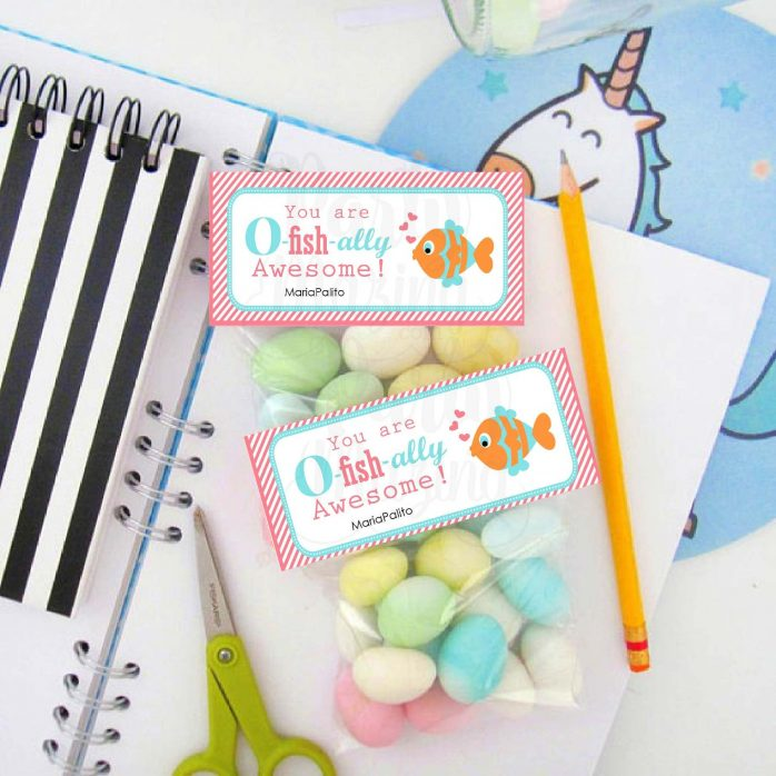 Editable You are O-Fish-ally Awesome Printable Bag Topper | Classroom Valentines E147