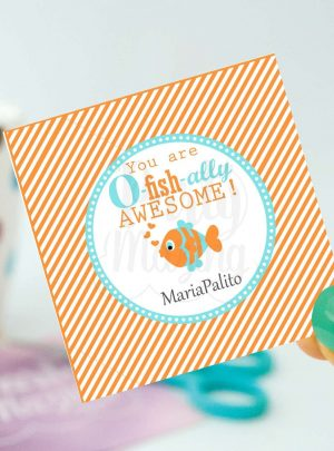 You Are O-fish-ally Awesome Printable Favor Tag E146