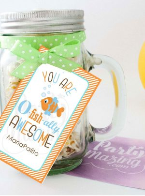 You Are O-fish-ally Awesome | Printable Thank You Tags | PK02 | E075