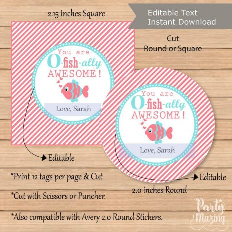 Editable You are Ofishially Awesome Gift Tags, stickers, or Labels | Editable Tag | E150
