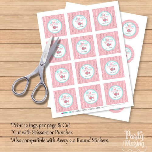 Editable You are Ofishially Awesome Gift Tags, stickers, or Labels   Editable Tag   E150