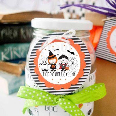 Printable Little Kids Happy Halloween Treat Bag Tags | PK20 | E168