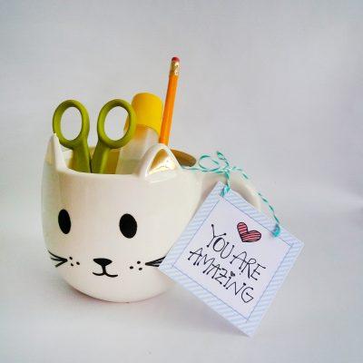 Hand-Drawn Printable You are Amazing Gift Tag, Uplifting Tag | E257