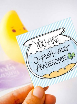 You are O-Fishally Awesome Printable Gift Tag | E246