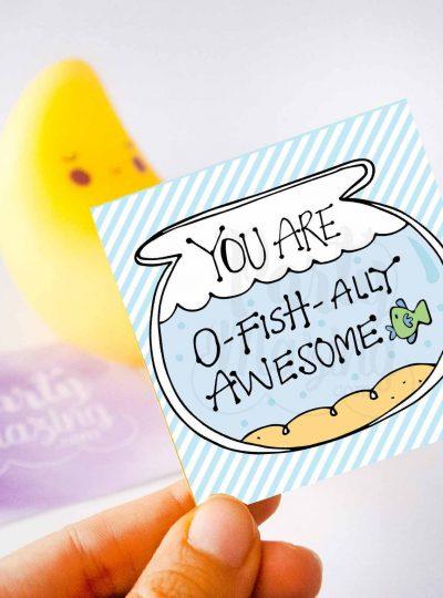 You are O-Fishally Awesome Printable Gift Tag | E246