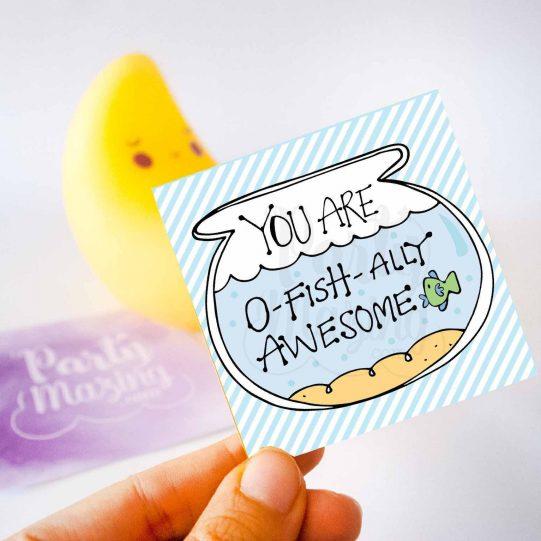 Hand-Drawn Printable You are O-Fishally Awesome Gift Tag   E246