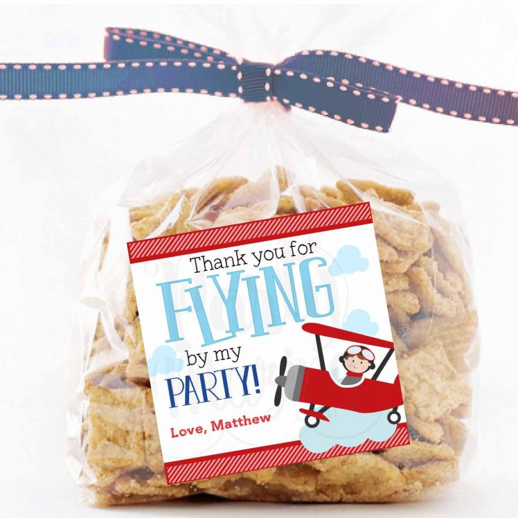Personalized Airplane Favor Tags, Toppers or Sticker Labels for your Transportation or Airplane Party   E226