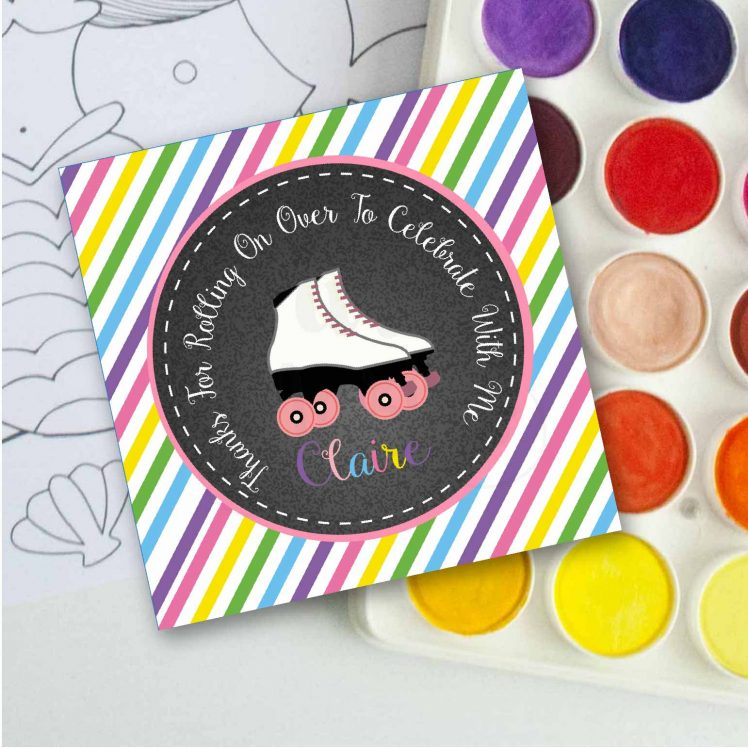 Personalized Printable Roller Skate Tags or Stickers  E209