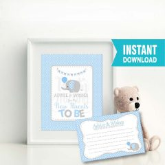 New parents advice Cards | Printable Baby Shower Game | PK03 | E091