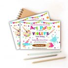 Printable Art Class Painting Party Invitation for your Kid's Birthday Party   Printable Digital Invitation or Whatsapp Invite   E221