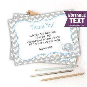 Printable Baby Gift Thank You Printable Card Notes | E132