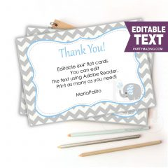 Printable Baby Gift Thank You Printable Card Notes | PK03 |E132