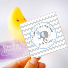 Printable Blue Elephant Thank You For Showering Our Litte Peanut Tags | E151