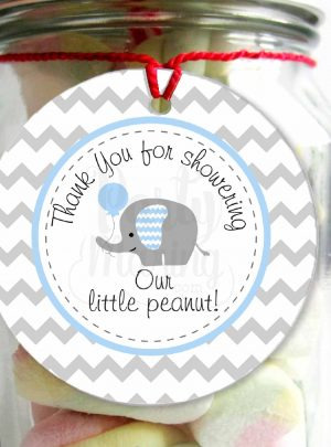 Litte Peanut Printable Thank You Favor Tags | E151