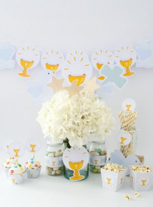 Sweet Dove First Communion Printable Party Express Set E177