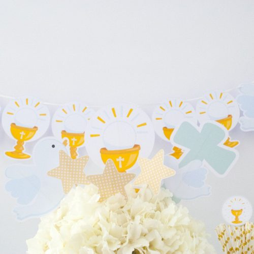 Printable Dove First Communion Party Quick Party Set Package Table Set Decor| E177