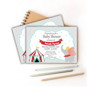 Printable Dumbo Carnival Birthday Invitation | E353