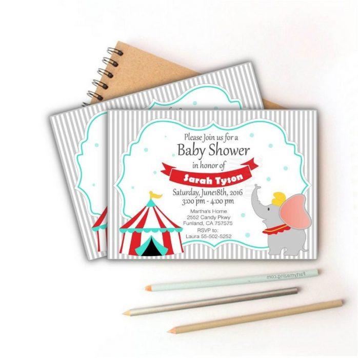 Printable Dumbo Carnival Birthday Invitation | E353