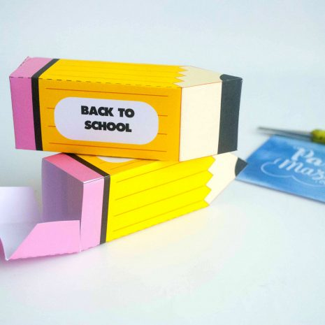 Printable Kids School Gift Pencil Box for your Teacher or Classmates for Back to School   E108