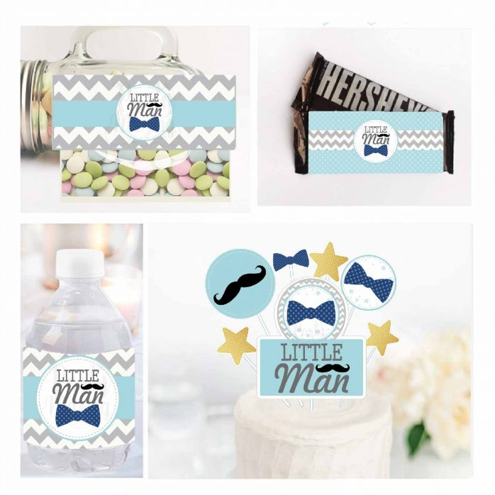 Printable Little Man Baby Shower Quick Party Package | E343