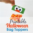 Printable Little Monster Printable Bag Toppers for your Toddler Kids Halloween Treat Bags or Party candy Bags   HOHW1   E200