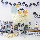 Printable Little Panda Bear Quick Party Decor Package Set Decoration for Boy or Girl | E001