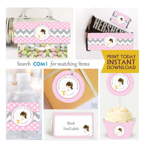 Printable My first communion Express Party Package Set | E186