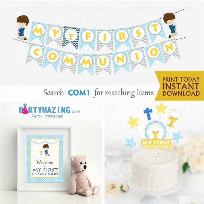 Printable My first communion Expresss Party Package Set| E018