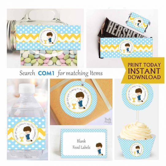 Printable My first communion Expresss Party Package Set  E018