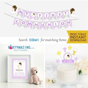 Printable My first communion Party Decor SExpress Party Package Set  |  E189