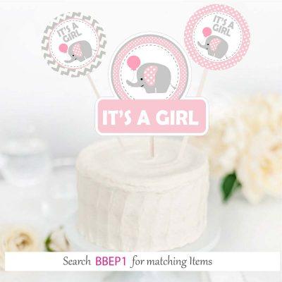 Pink Elephant Printable Baby Shower EXPRESS Set E192
