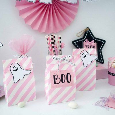 Pink Halloween Little Ghost Printable Decor | PK20 | E378