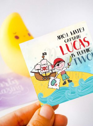 Printable Pirate BoyParty Tag for your Boy Birthday Party | E212