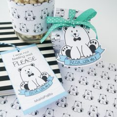 Please Bear with Me Gift Tag Set | Printable Handdrawn Label Set | PK02 | E194