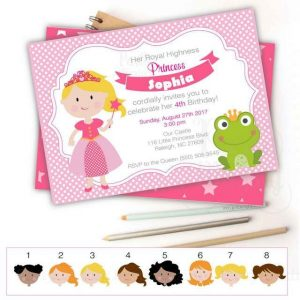 Printable Princess and a Frog Birthday Invitation | E352