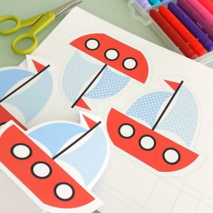 Printable Sailboat Party Favor Box for your Nautical Ship Birthday Party or Transportation Party | E215