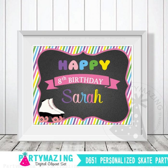 Printable Skate Welcome Roller Skate Party or Skate Ring Party | E267