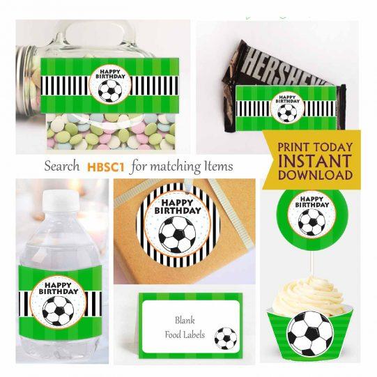Printable Sport pack,  Soccer Party Set | Futbol Soccer Birthday Party | Express Sport Birthday Party Package | Boy Sport Set | HBSC1 | E017