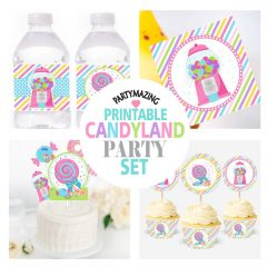 Printable Sweet Party Candyland Quick Party Printable Package Decorations | PK05| E181