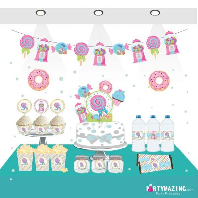 Printable Sweet Party Candyland Quick Party Printable Package Decorations | E181