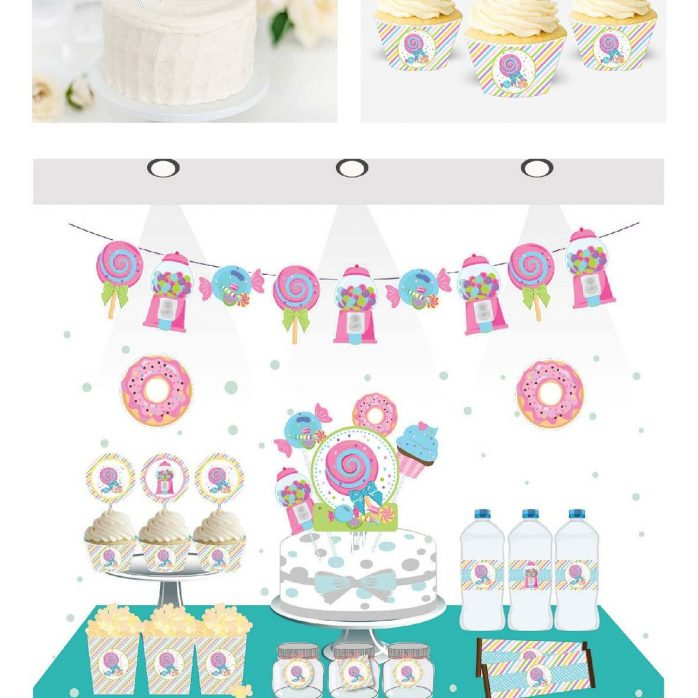 Printable Sweet Party Candyland Quick Party Printable Package Decorations   E181