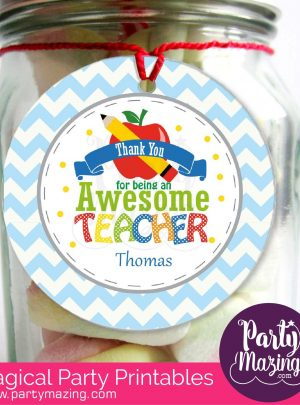 Teacher Appreciation Printable School Gift Tag E112