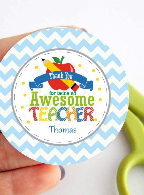 Printable Teacher Tag | Teacher Appreciation Tag |Thank You for Teaching Me so Much | School Tag | stickers |HOTE1 | E112
