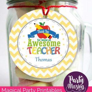 Awesome Teacher Printable Gift Tag | PK12| E117