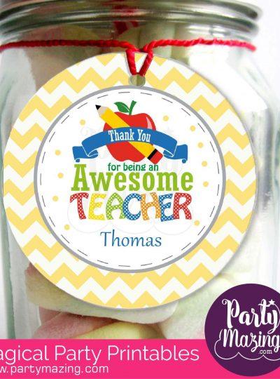 Awesome Teacher Printable Gift Tag E117
