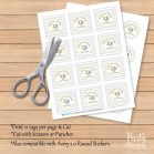 Printable Yellow Elephant Baby Shower Thank You DIY Tags | E073