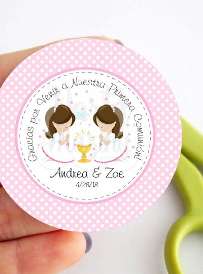 Spanish First Communion Printable Party Favor Tag E182