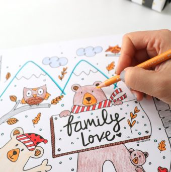 6 Slow down Activities for the Holidays- Free Winter Coloring Page for the Kids
