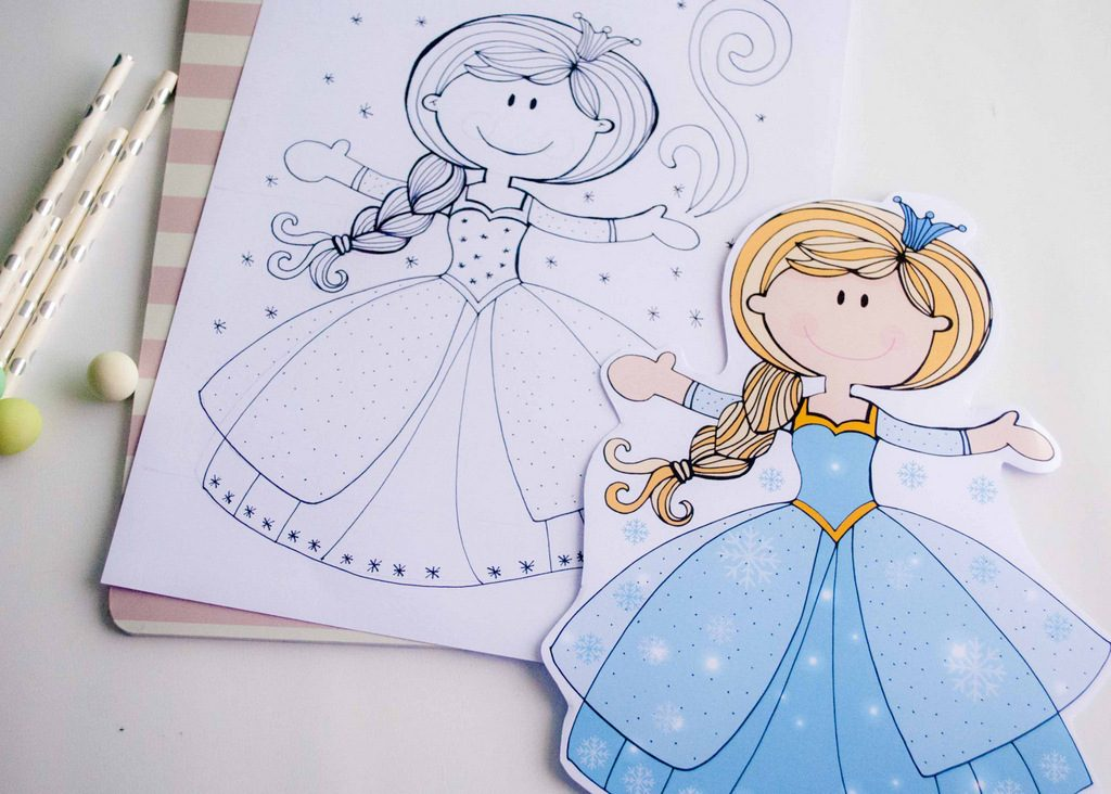 Hand-drawn  Frozen Party Design